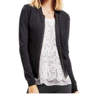 CAbi black bomber sweater jacket
